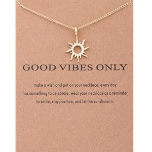 Jewelry - ☀️Gold Good Vibes Only Necklace☀️